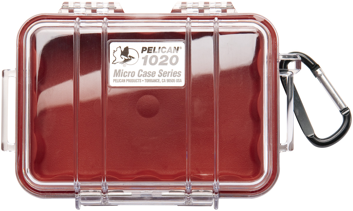 pelican peli products 1020 tough hard red tiny case