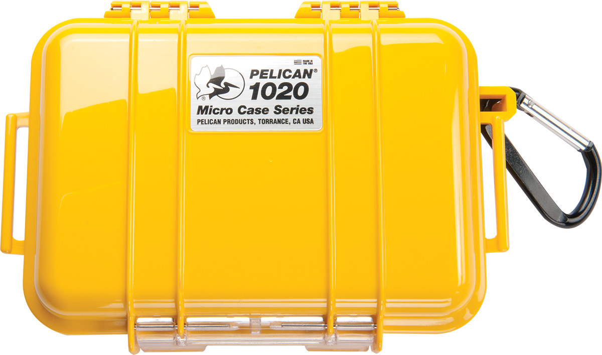 pelican 1020 yellow rugged hard micro case