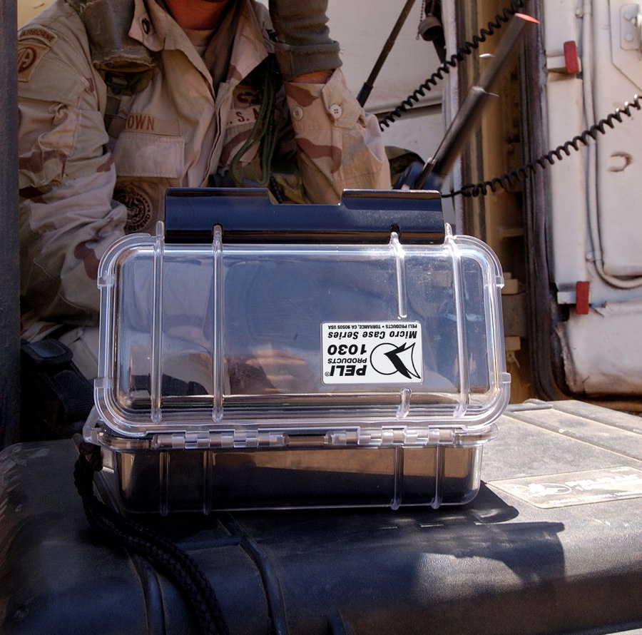 pelican 1030 small waterproof military hard case