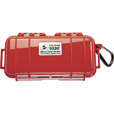 pelican 1030 survival hard red micro case