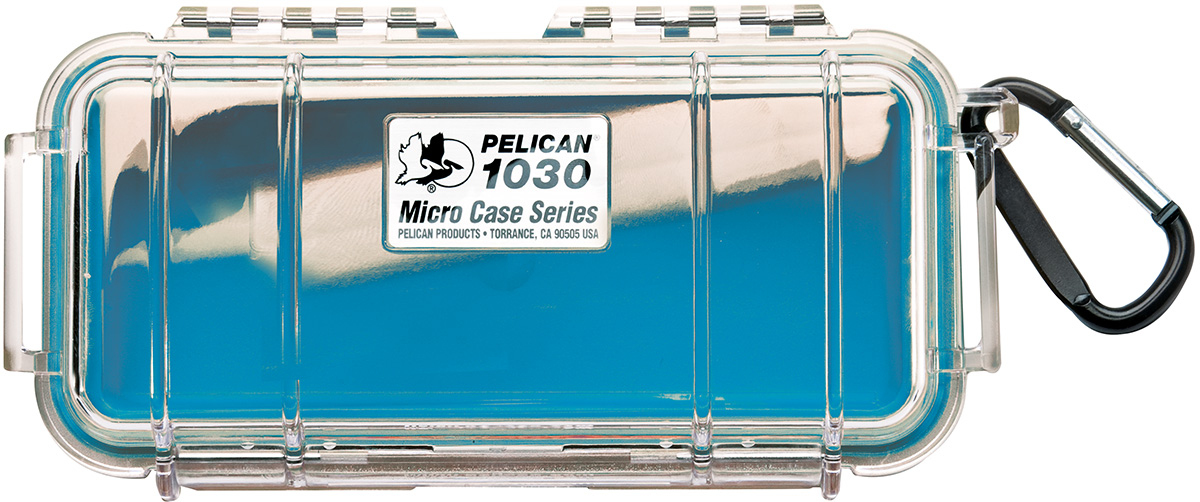 pelican 1030 watertight blue protective case