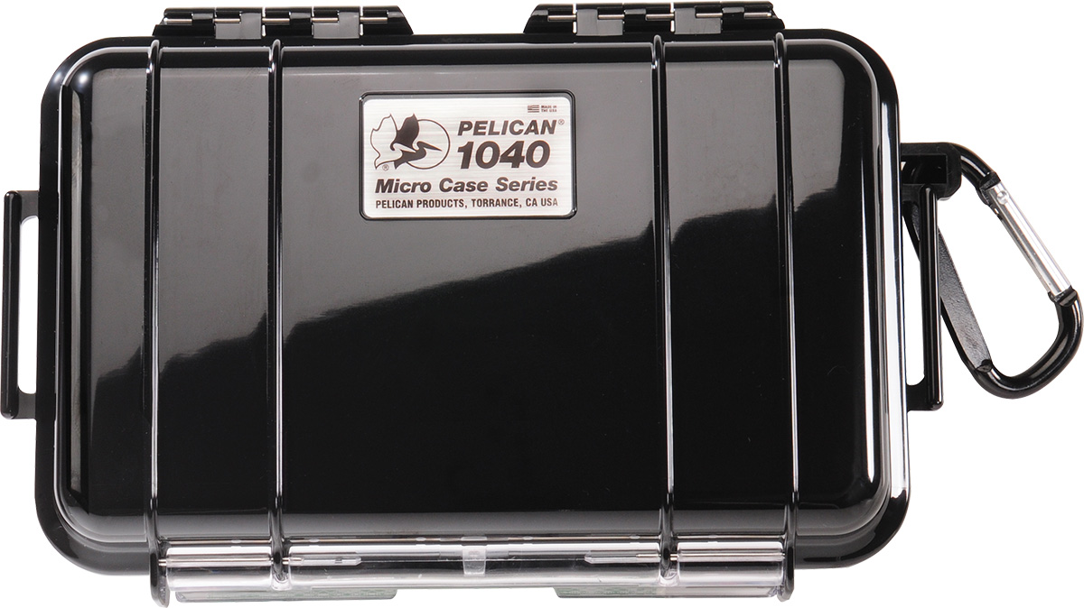 pelican 1040 black waterproof protection micro case