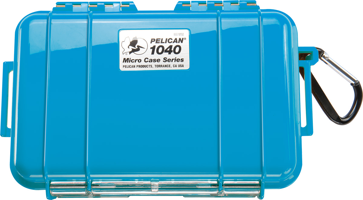 pelican 1040 blue watertight hard micro case