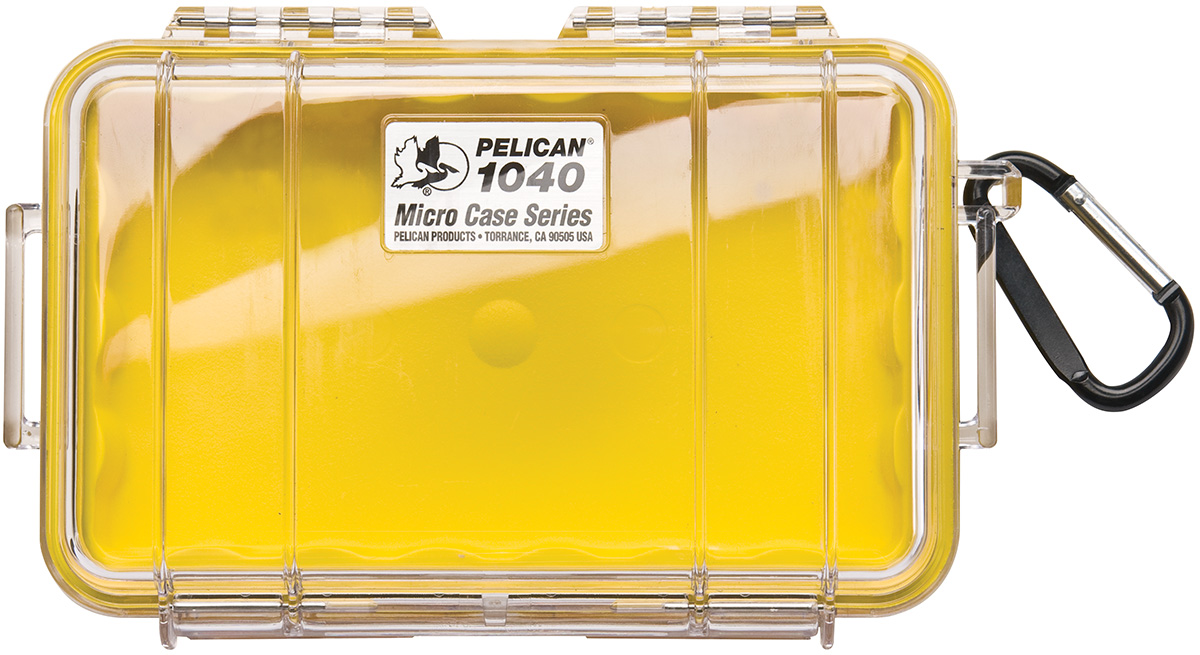 pelican 1040 waterproof yellow hardcase