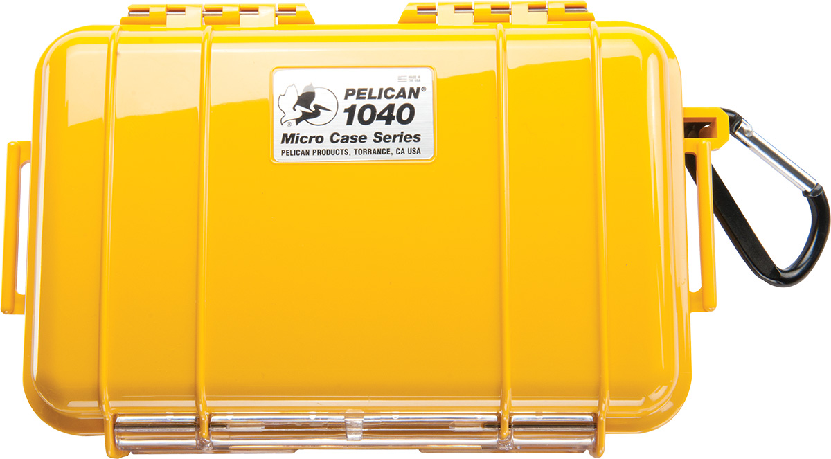 pelican 1040 yellow waterproof hard micro case