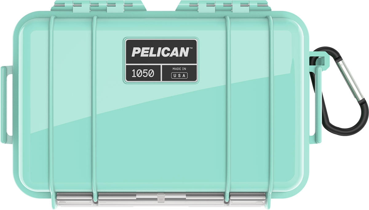 pelican 1050 seafoam waterproof case