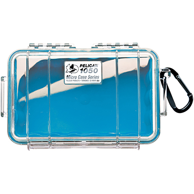 pelican 1050 watertight beach blue small case