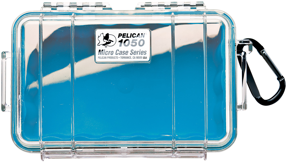 pelican watertight beach blue small case