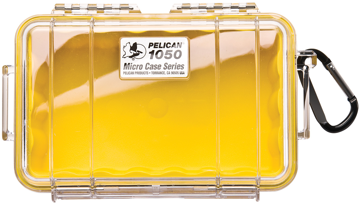 pelican 1050 watertight hard yellow micro box