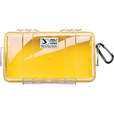 pelican 1060 yellow small waterproof case
