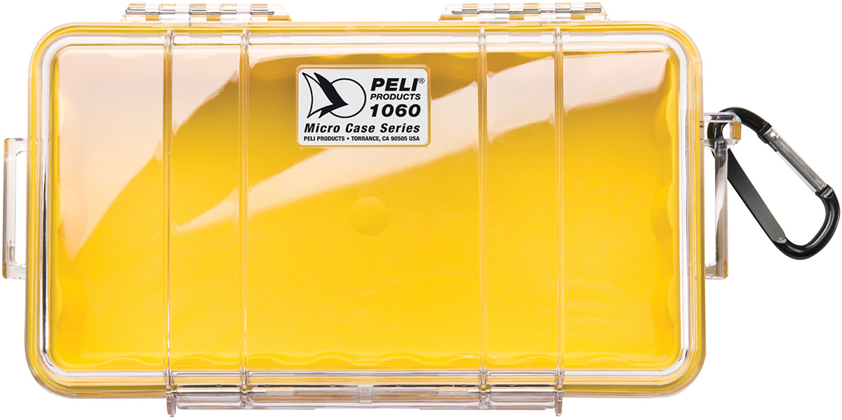 peli 1060 yellow small waterproof case