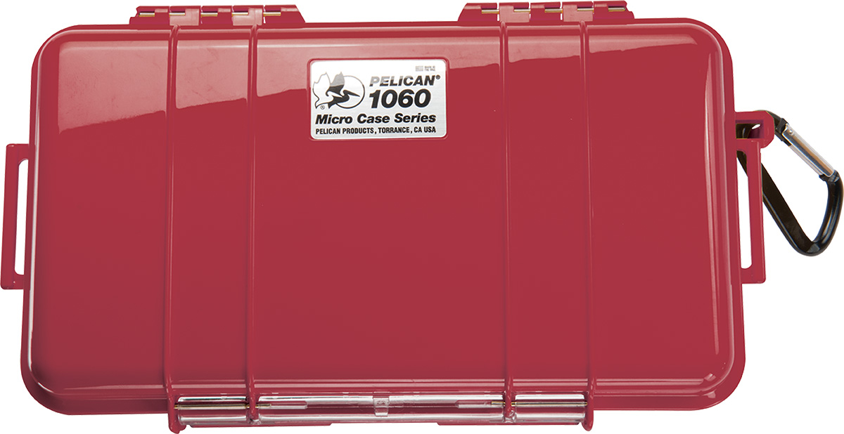 pelican 1060 1010 red watertight marine micro case