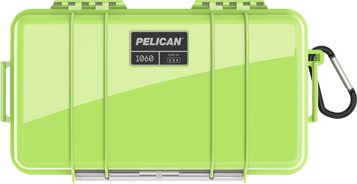 pelican 1060 bright green waterproof case