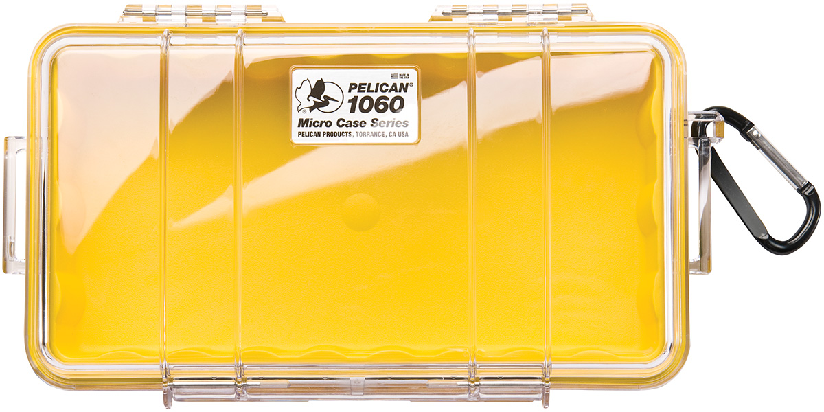 pelican waterproof protective yellow case