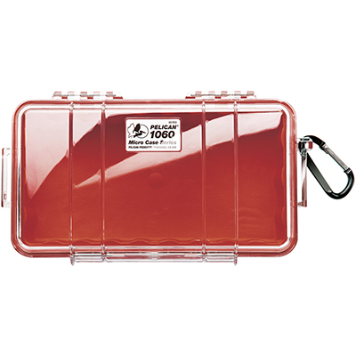 pelican waterproof strong red hard case