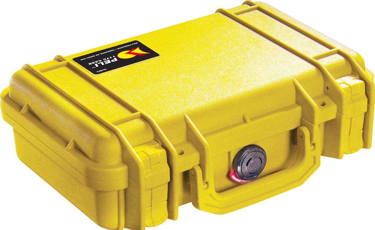 peli 1170 yellow small electronics case