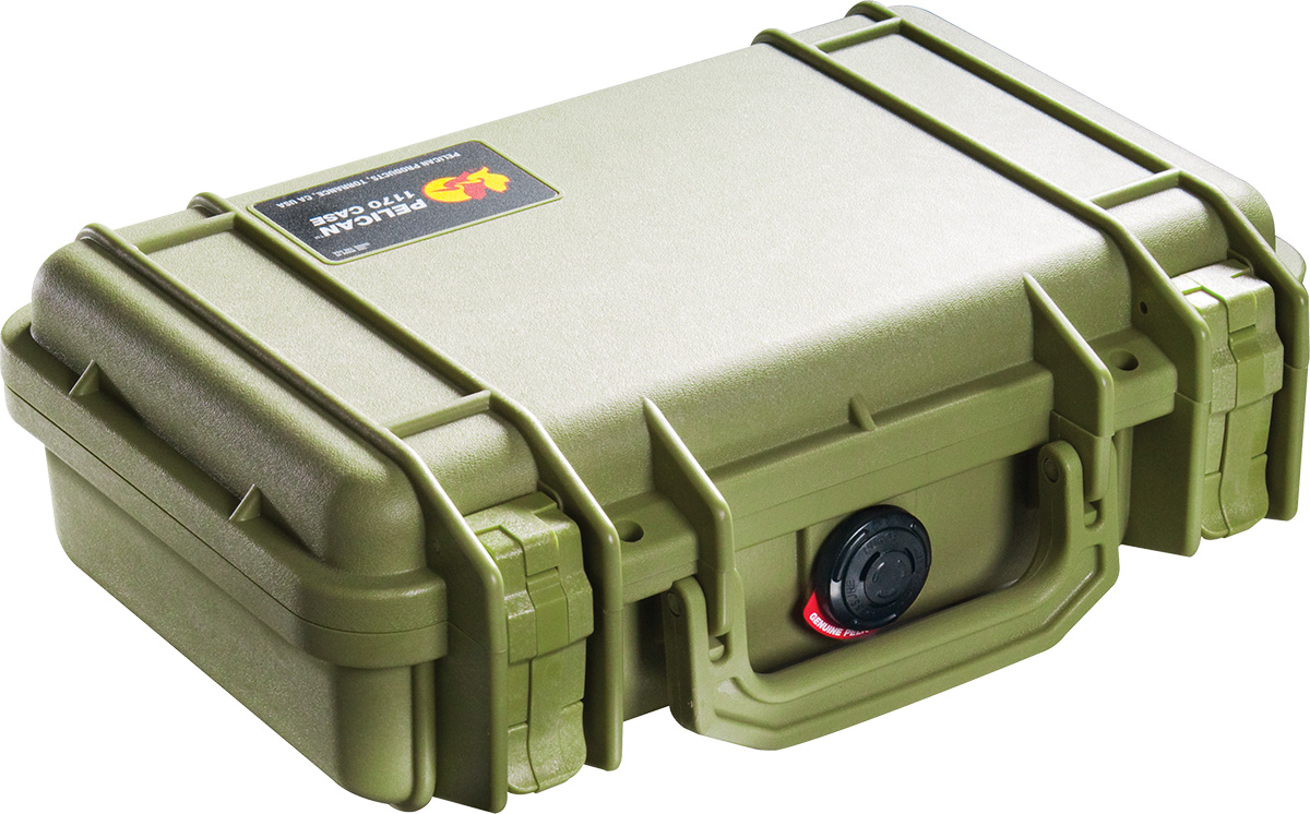 pelican 1170 green weapon case