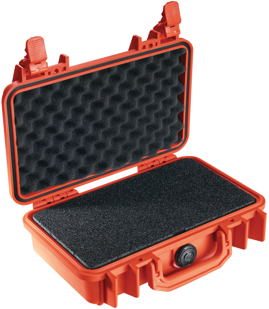 pelican 1170 orange foam pistol case