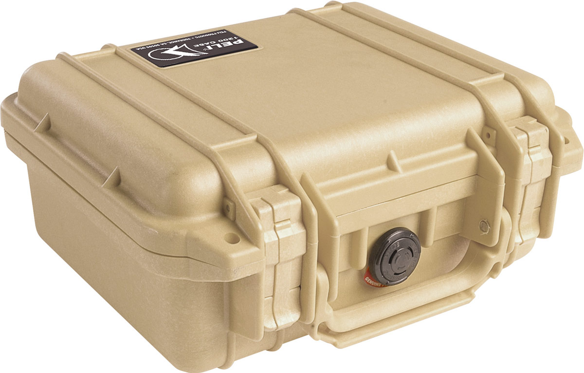 peli 1200 tan protection case
