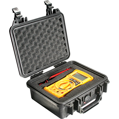 pelican 1200 black meter hard case