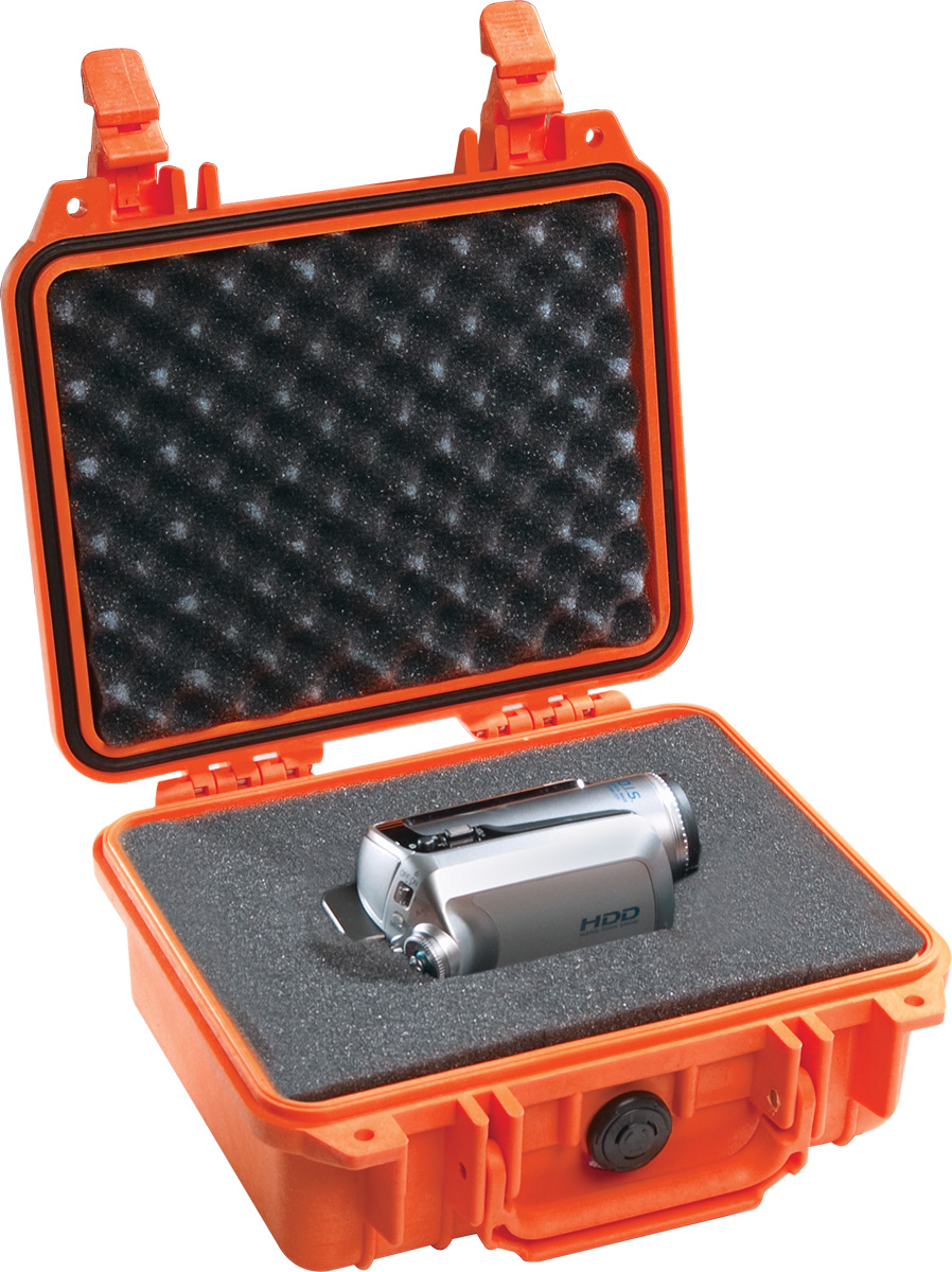 pelican 1200 orange camcorder case