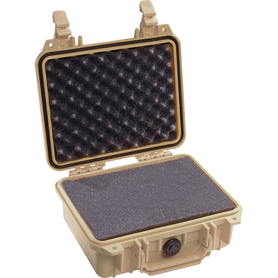 pelican 1200 tan dustproof foam case