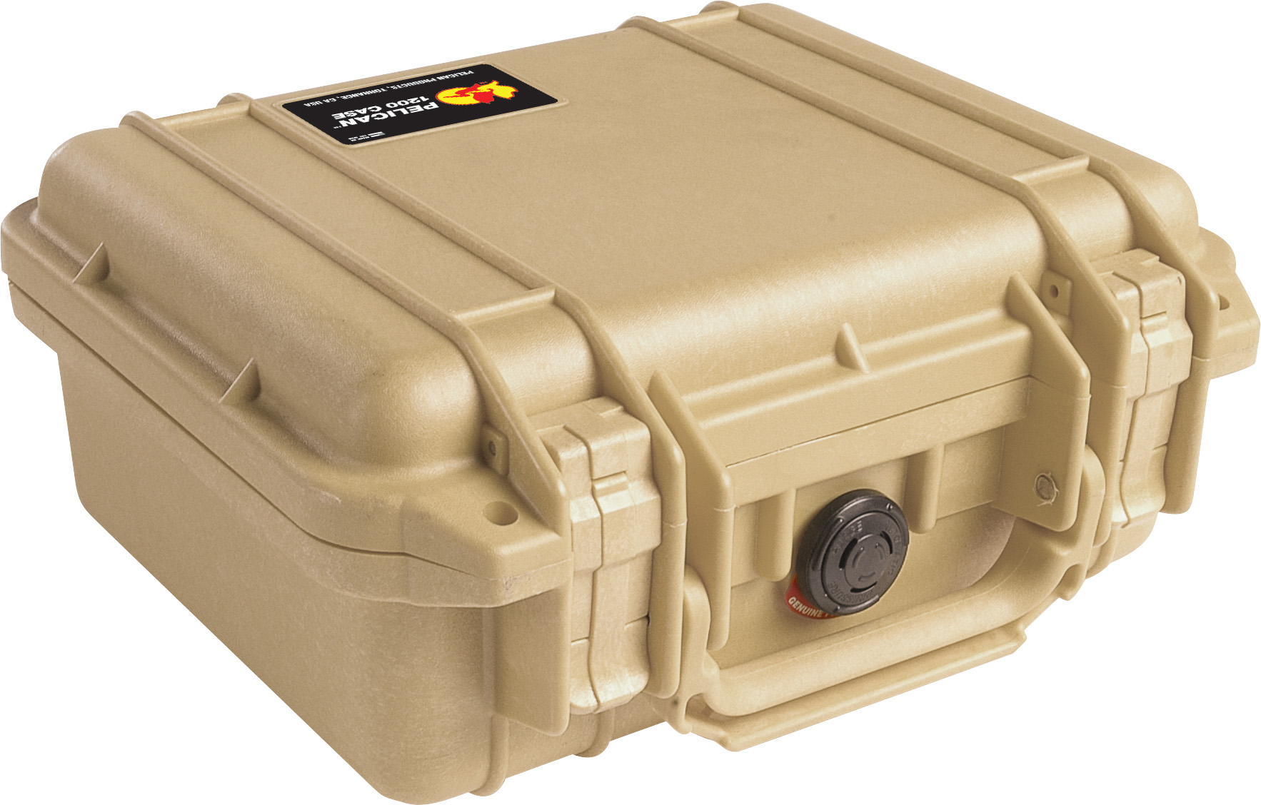 pelican 1200 tan protection case
