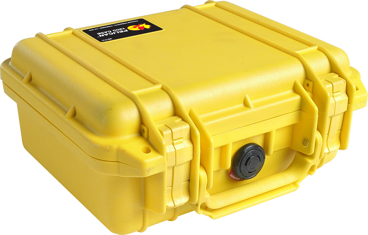 pelican 1200 yellow military case