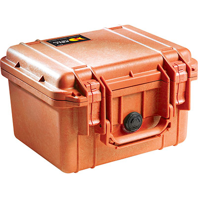 peli 1300 orange rugged case