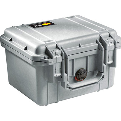 peli 1300 silver waterproof case