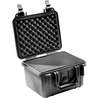 pelican 1300 black foam equipment case