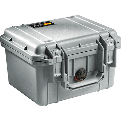 pelican 1300 silver waterproof case