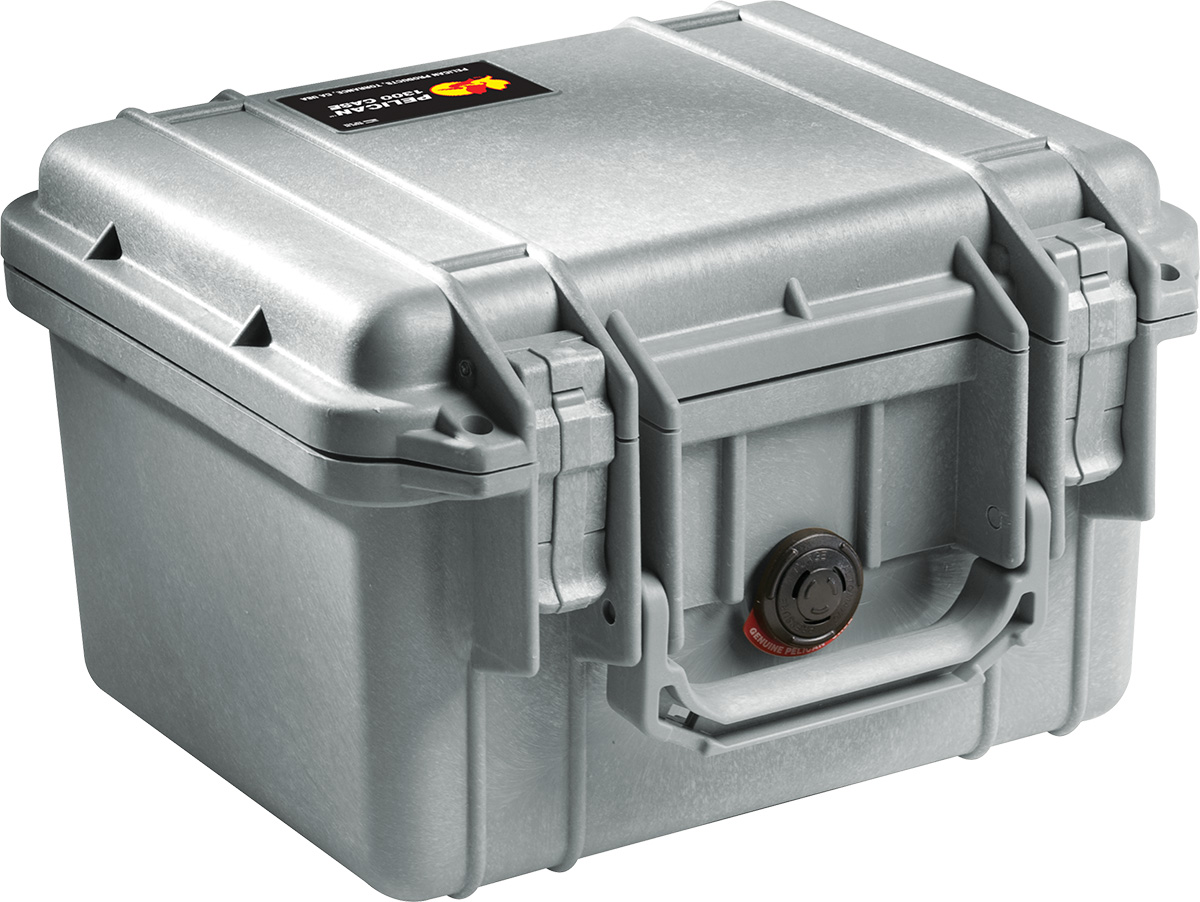 pelican 1300 silver waterproof case