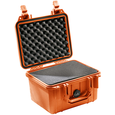 pelican 1300 orange camera waterproof case