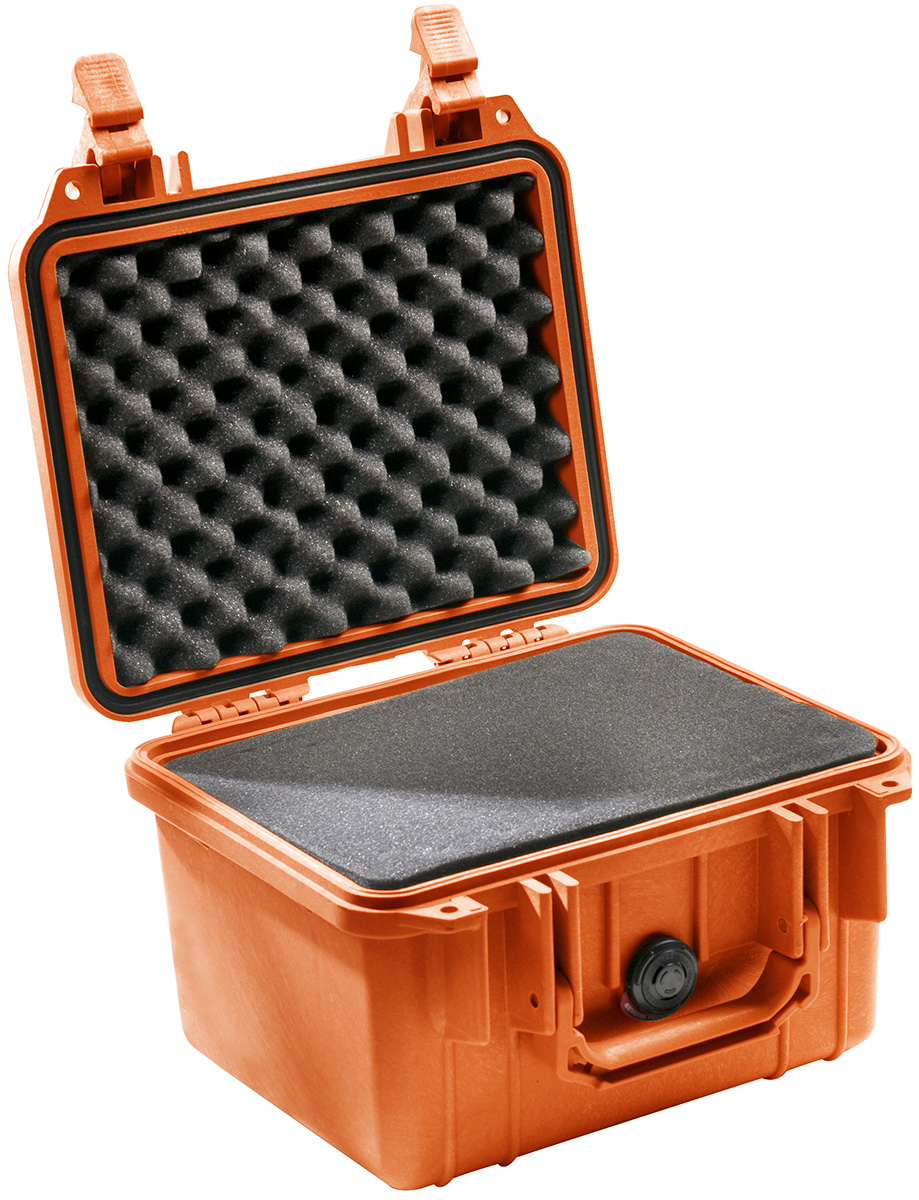 pelican peli products 1300 orange camera waterproof case