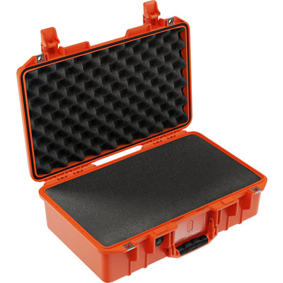 pelican air 1485 orange foam travel case