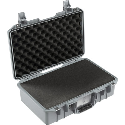 pelican air 1485 silver carry on foam case