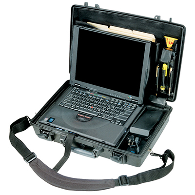 pelican waterproof laptop travel case briefcase