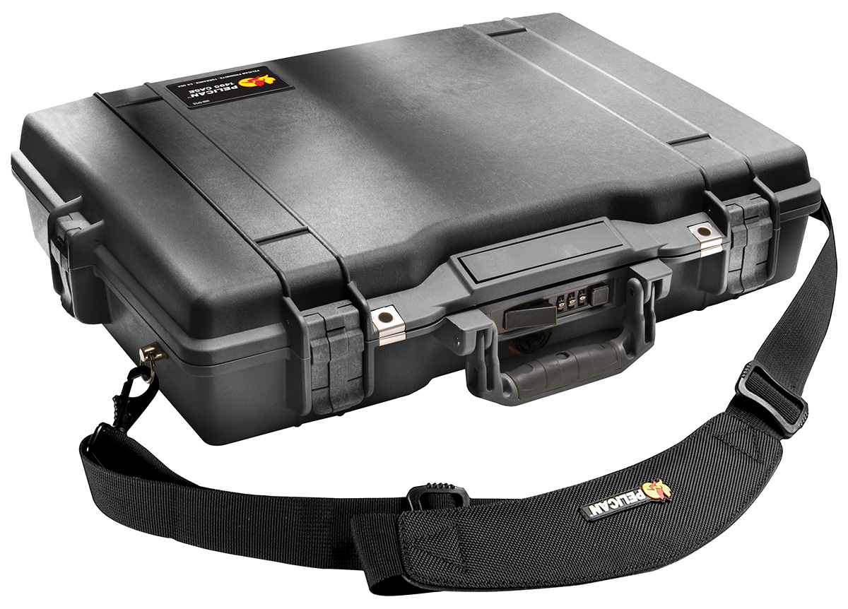 pelican secure strong case laptop briefcase