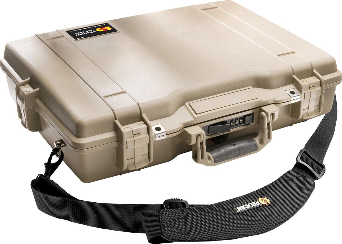 pelican 1495cc1 laptop hardback tan case