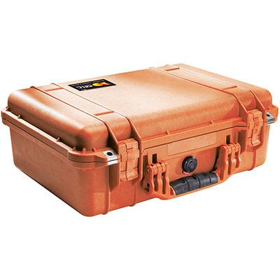 peli 1500eu orange camera protection case