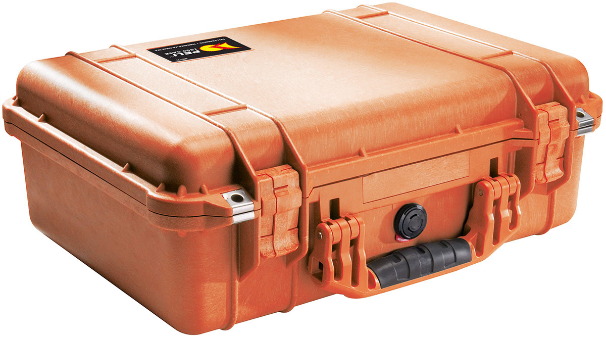 peli 1500eu orange camera protection case