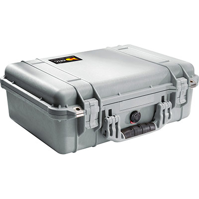 peli 1500eu silver waterproof case