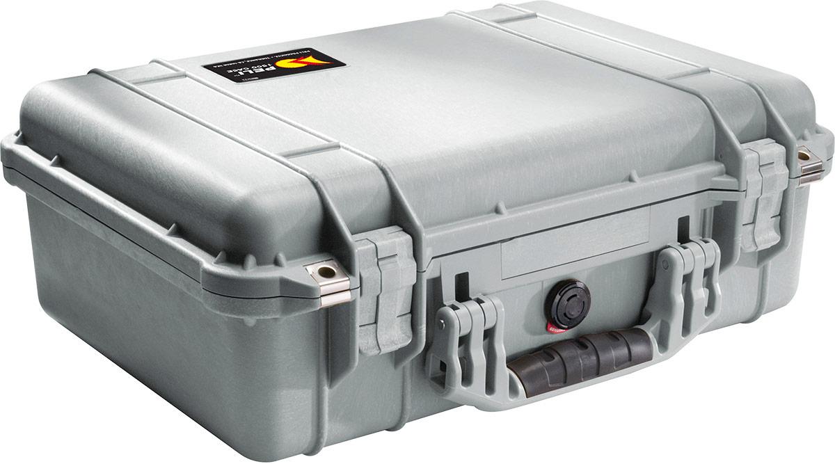 peli 1500eu silver waterproof case