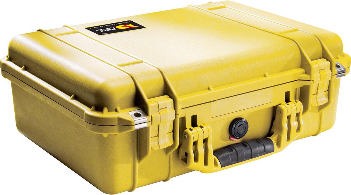 peli 1500eu yellow camera case