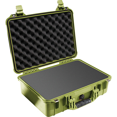 pelican 1500 green foam survivor case