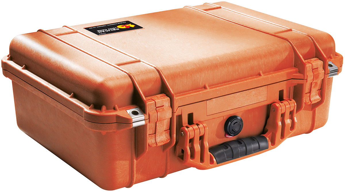 pelican peli products 1500 orange camera protection case