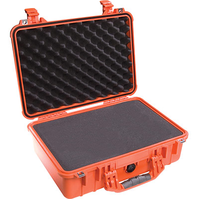pelican 1500 orange foam case