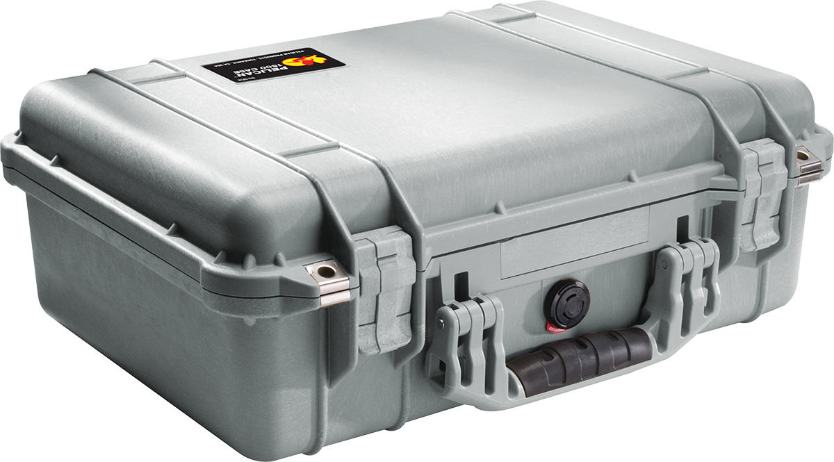 pelican 1500 silver waterproof case