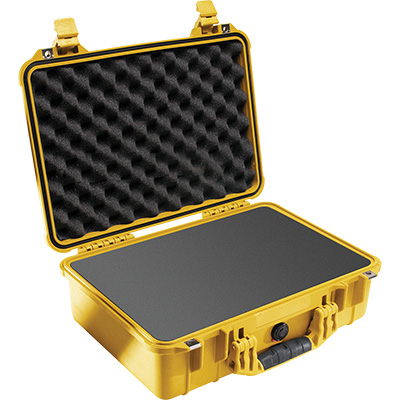 pelican 1500 yellow rugged camera case